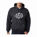 Grey sweatshirt w 150 and name logo